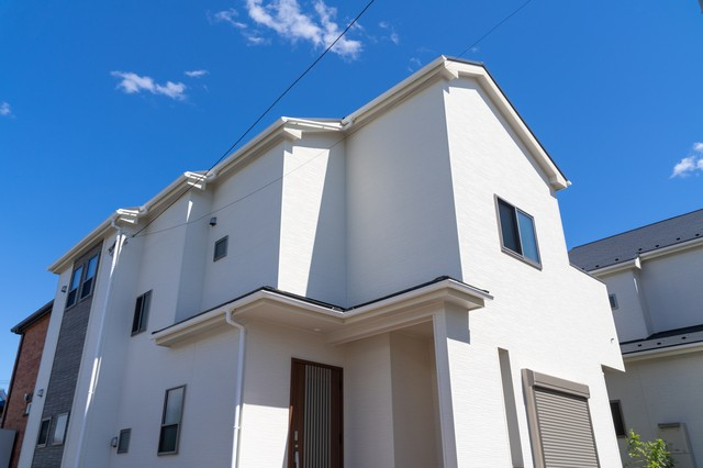 ホワイトの戸建て住宅